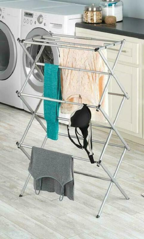 Clothes Rack Laundry Stand Folding Hanger Dryer