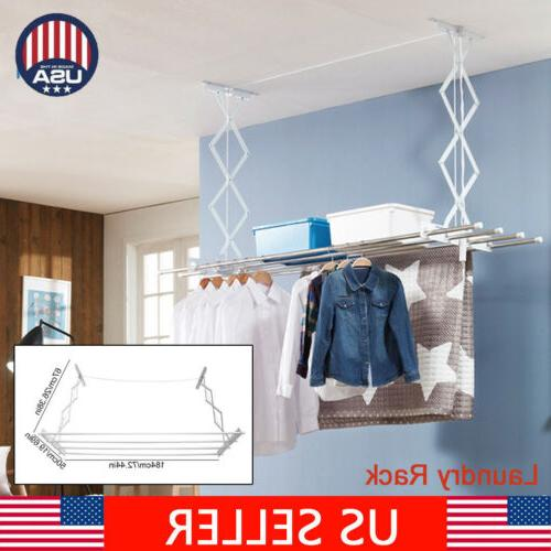 clothes drying rack line laundry dryer indoor