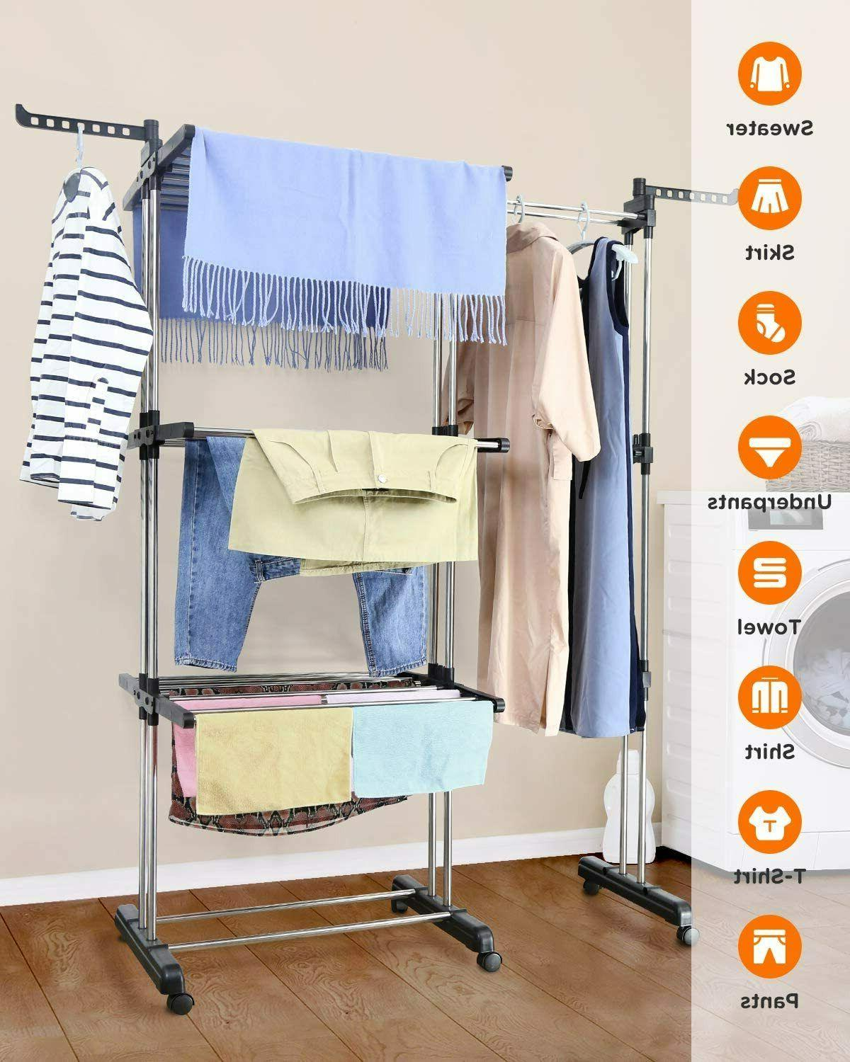 Tomons Drying Rack Tower, Stainless Steel