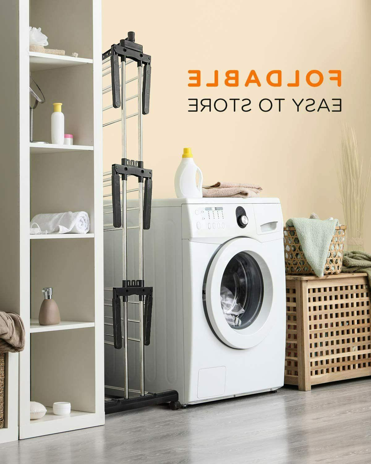 Tomons Clothes Tower, Dryer Stainless Steel Mobile