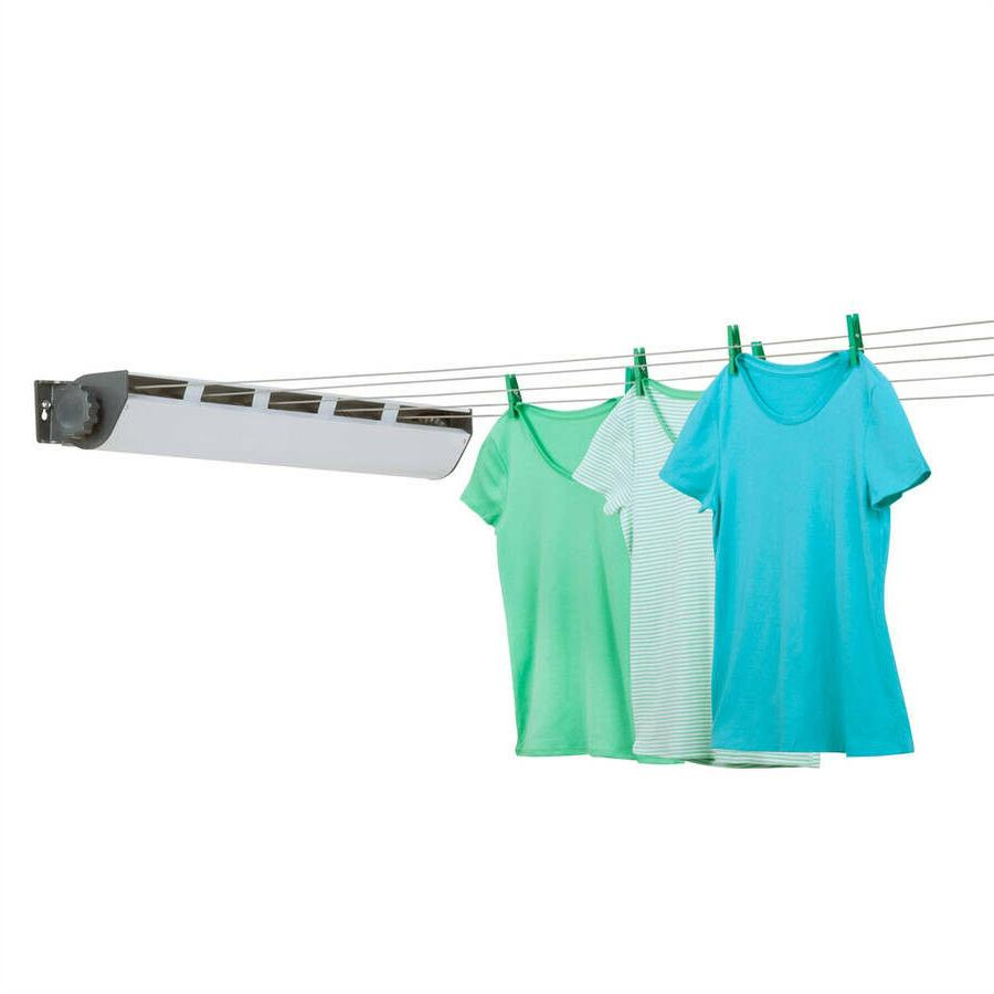 Clothes Drying Rack Wall Mount 5-line retractable outdoor cl