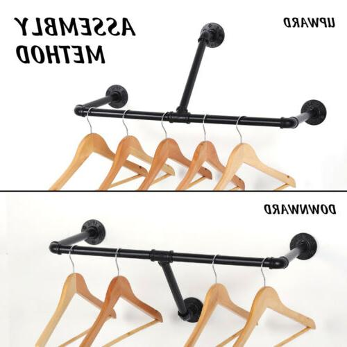 """22"""" Wall Mounted Clothes Rack Drying Hanger for Laundry Clos"""