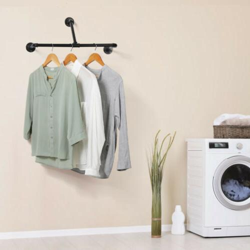 clothes rack drying hanger laundry wall mounted