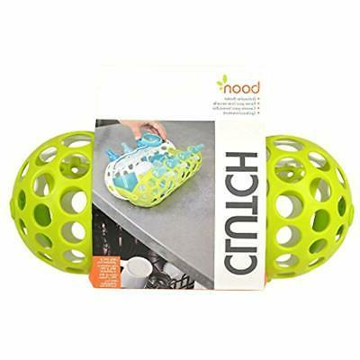 Clutch Bottle Accessories Basket, Green Baby Racks
