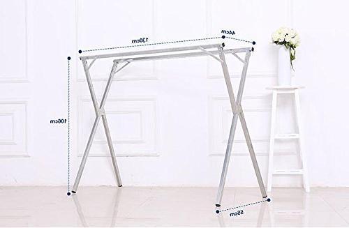 AIDELAI Rack Drying Racks and Drying Racks Double-bar Balcony X-Type