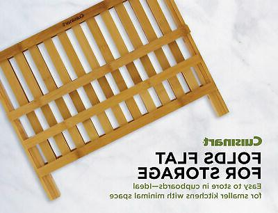 Cuisinart Collapsible Bamboo Drying Rack for Extra