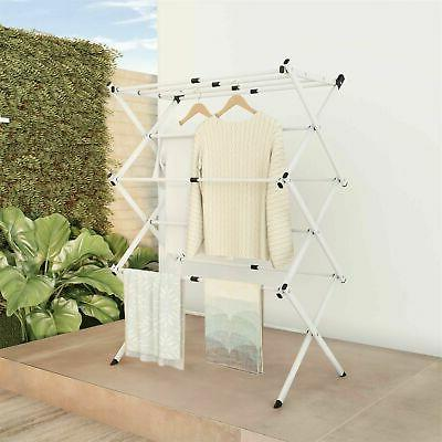 collapsible clothes drying rack line air drying
