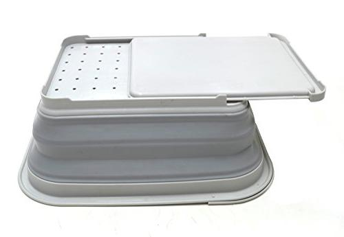 SAMMART Collapsible with Foldable Drying - Storage Tray