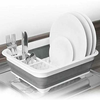 Collapsible Rack, Dish Drainer Dinnerware Basket for