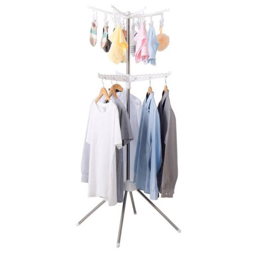 collapsible drying rack 2 tier
