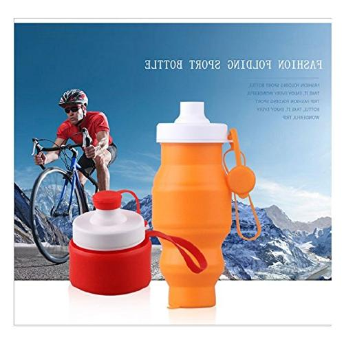 collapsible water bottle multifunctional silicone