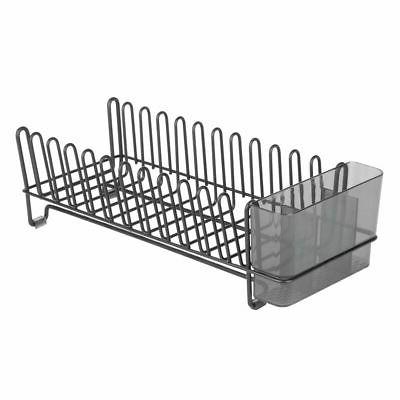 mDesign Counter Drying Rack & Microfiber Mat, Set