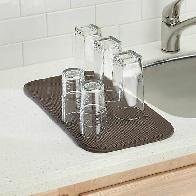 mDesign Dish Drying Rack and Set of