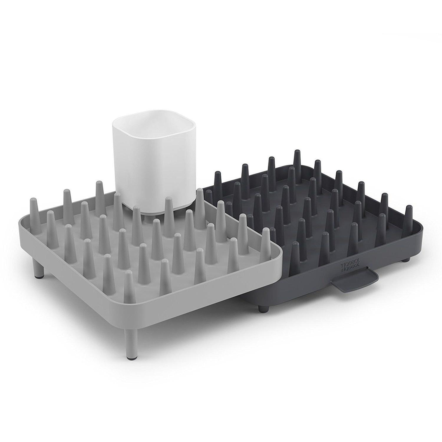 connect adjustable dish drying rack and drainboard