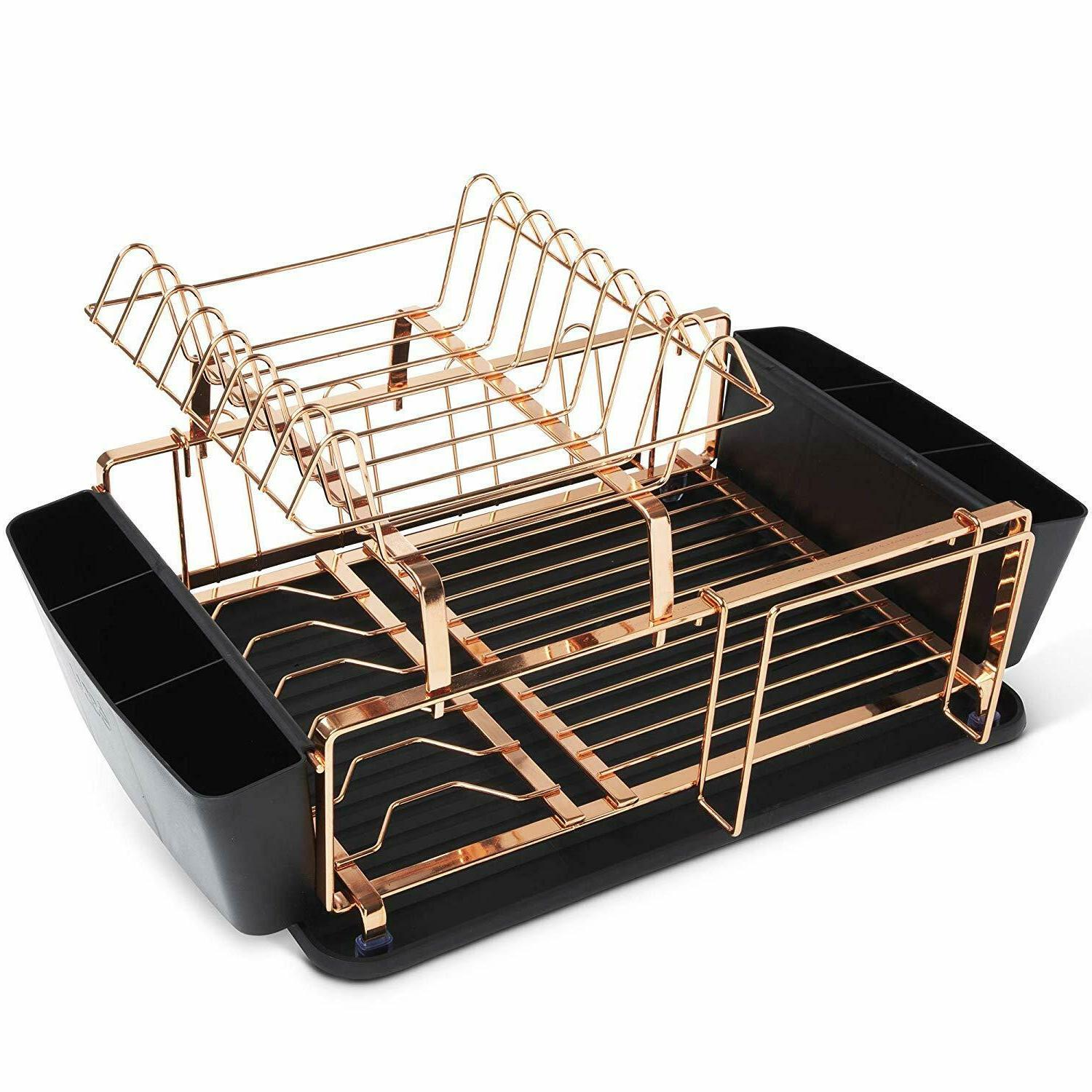 copper drying rack dish holder and drainboard