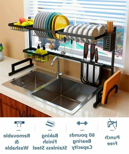 decor dish drying rack stainless steel kitchen