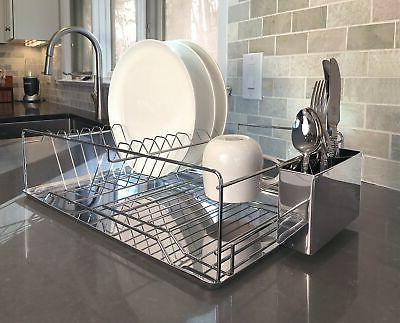 dish drainer drying rack 1 tier basic