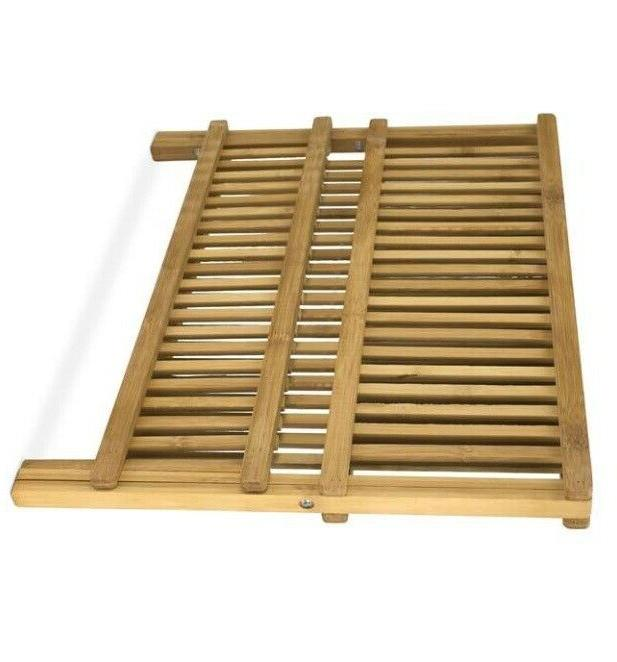 Dish Drying Rack Of Bamboo Kitchen Drain Free Gift