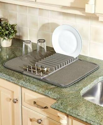 dish drying mat with rack