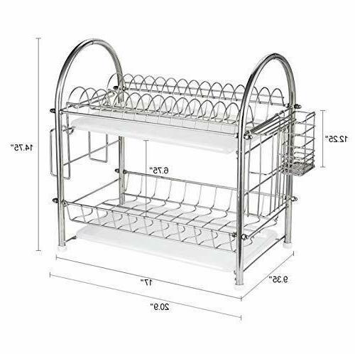 Dish Rack Tier Kitchen Storage Drainboard