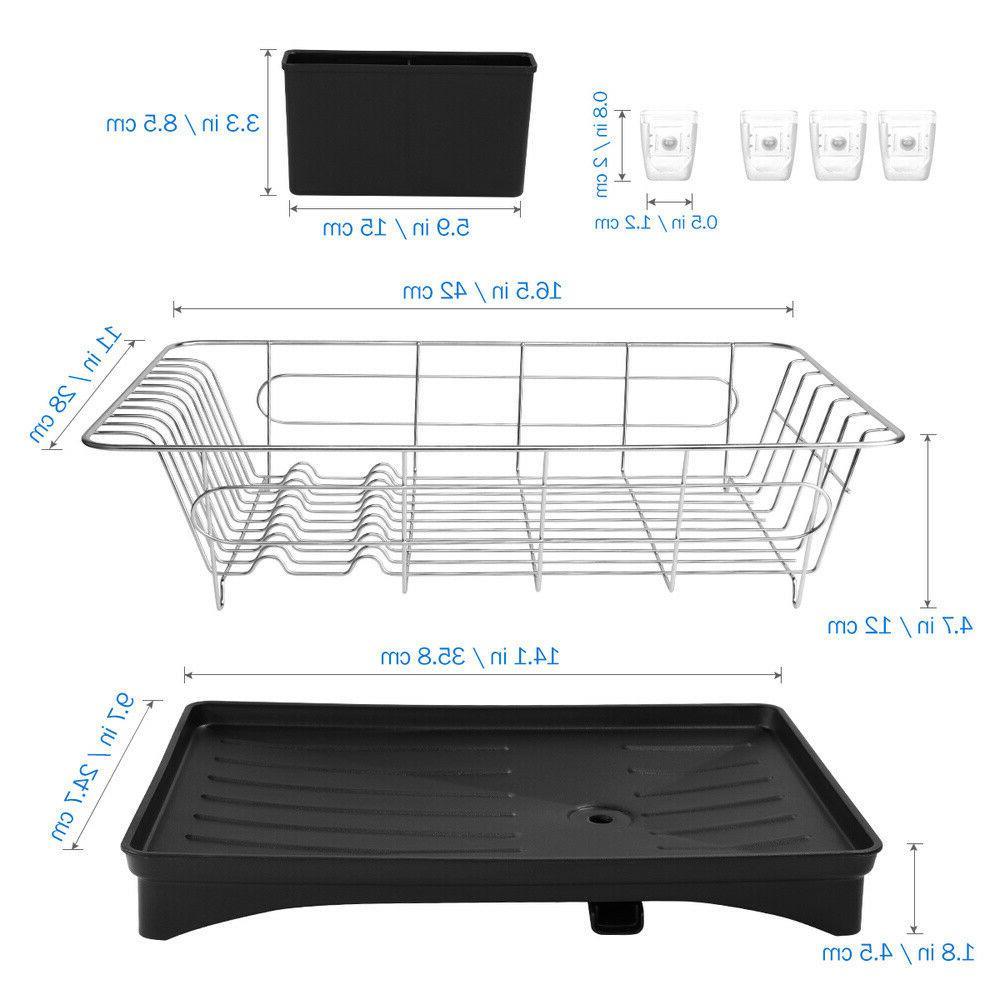 Stainless Steel Dish Rack Drainer Tray Storage Kitchen Space