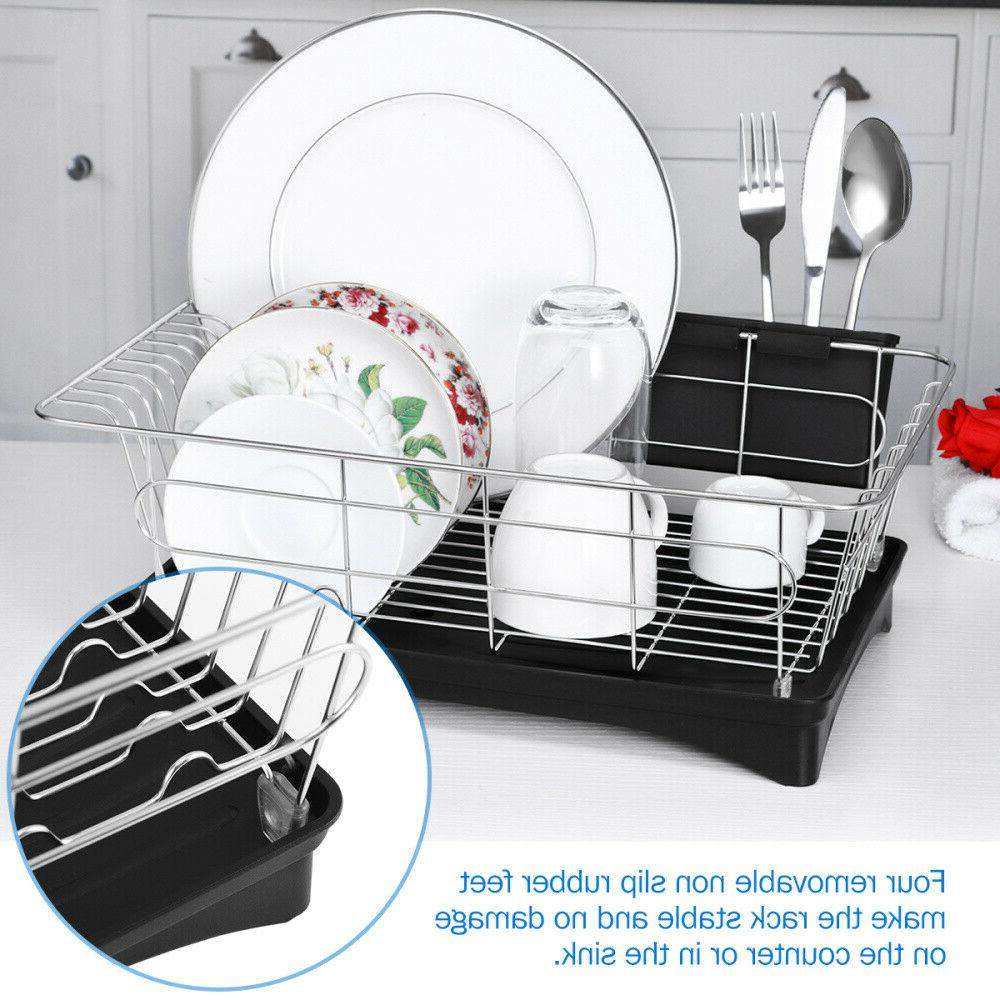 Stainless Steel Drying Rack Holder Storage Space Saver