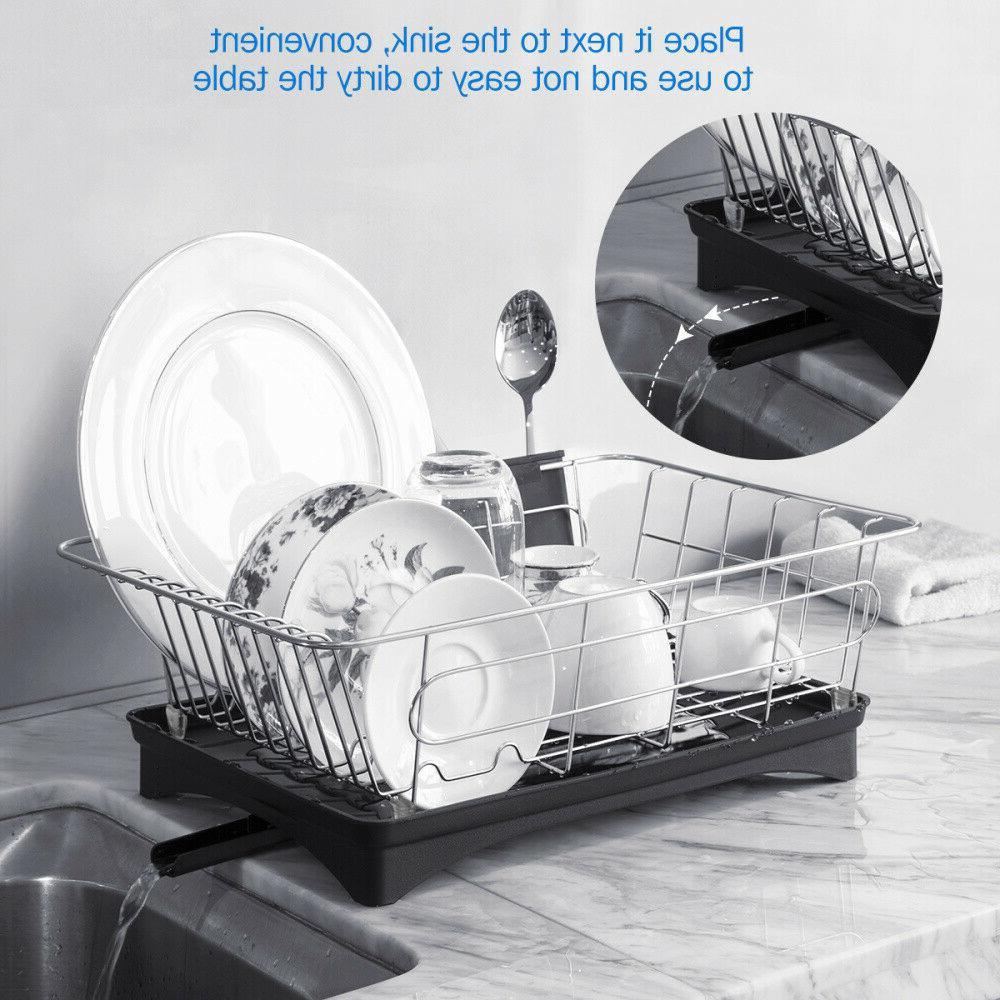 304 Stainless Steel Kitchen Dish Rack Bowl Drying Organizer