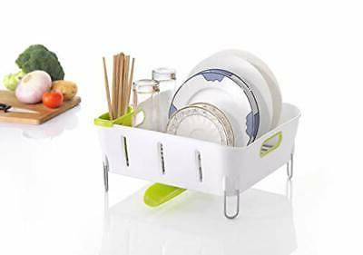 Dish drying rack and drainboard set adjustable Swivel