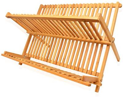 dish drying rack bamboo dish rack collapsible