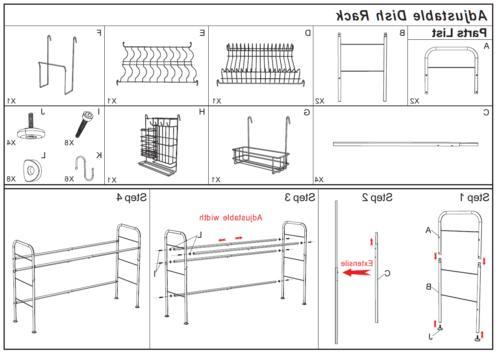 Dish Drying Rack Holder Holder