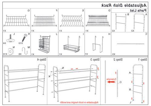 Dish Drying Holder Storage Holder Tiers Kitchen