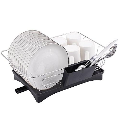 16.5 11 x 6 Dish Drying Rack with Board Small for Kitchen Dish