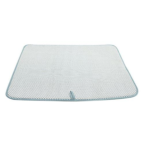 "Houseables Dish Mat, 18"", Reversible, Pad, Gray"