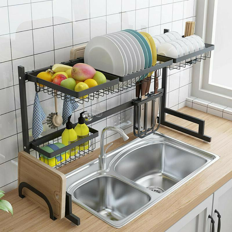 Stainless Steel Sink Rack Cutlery Drainer