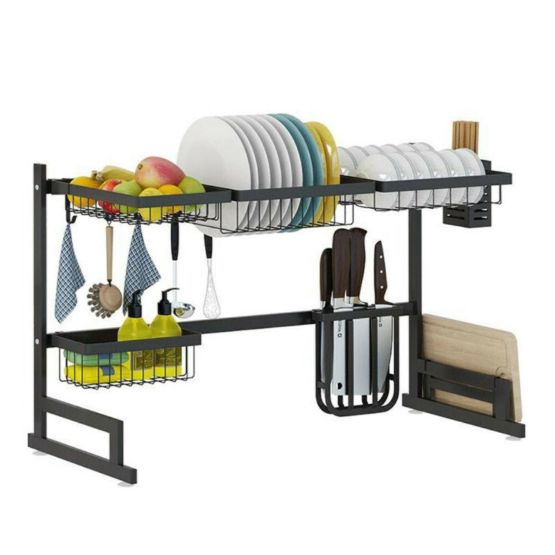 Stainless Rack Shelf Dish Cutlery