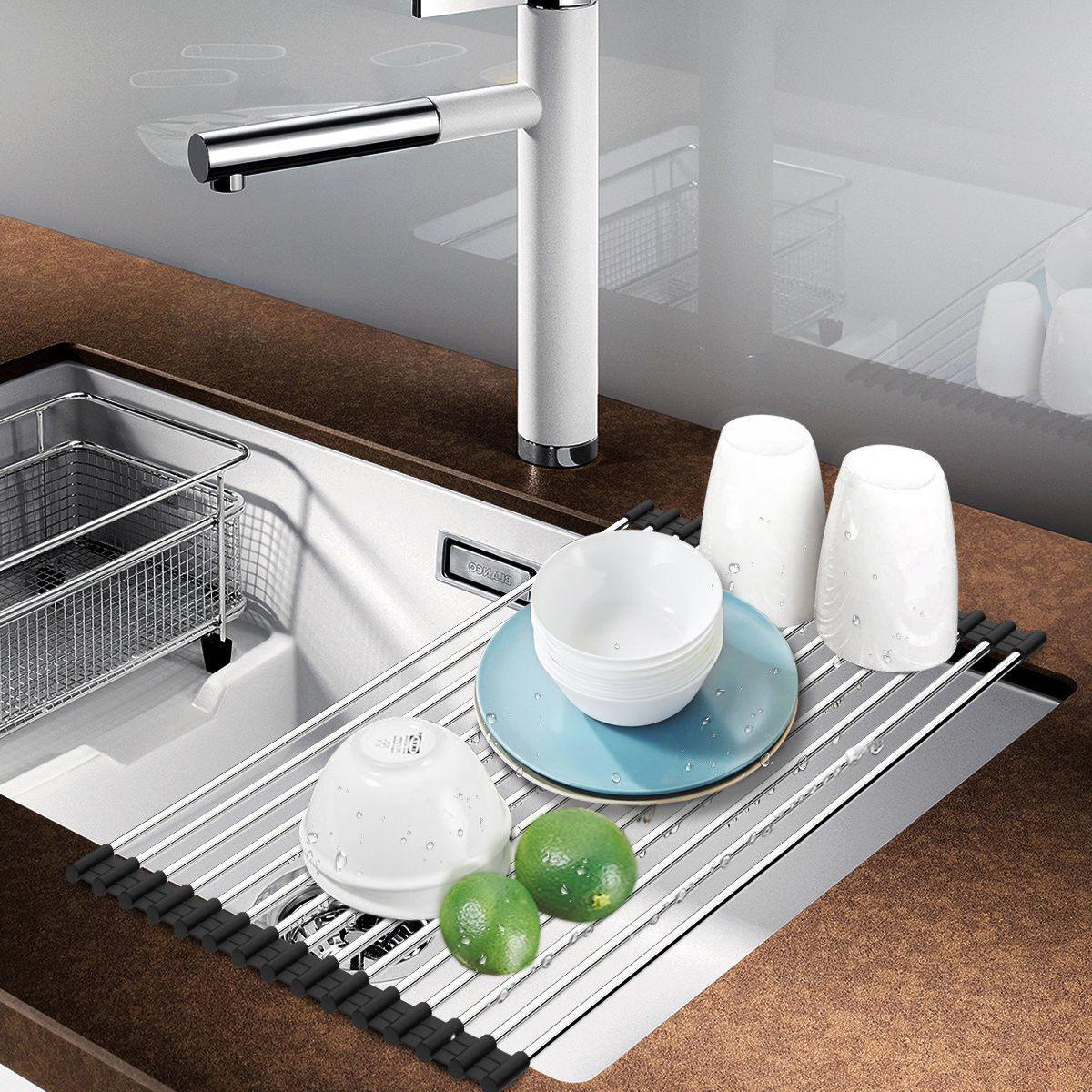 Dish Rack Up Steel Kitchen Over the Sink