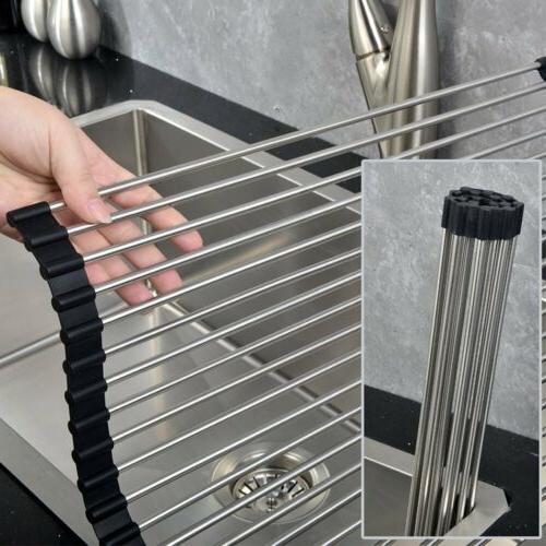 Dish Steel Sink Kitchen Organizer Tray