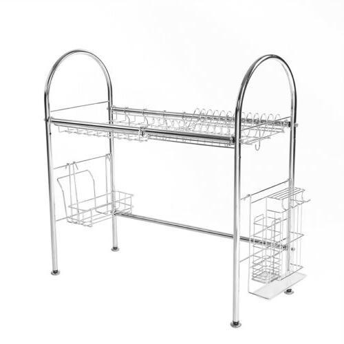 Stainless Steel Dish Drying Rack Shelf Holder US