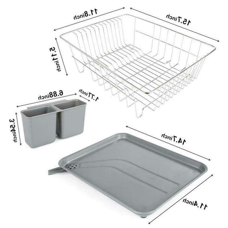Dish Rack With Drain Board, Stainless Steel Drainer Ra