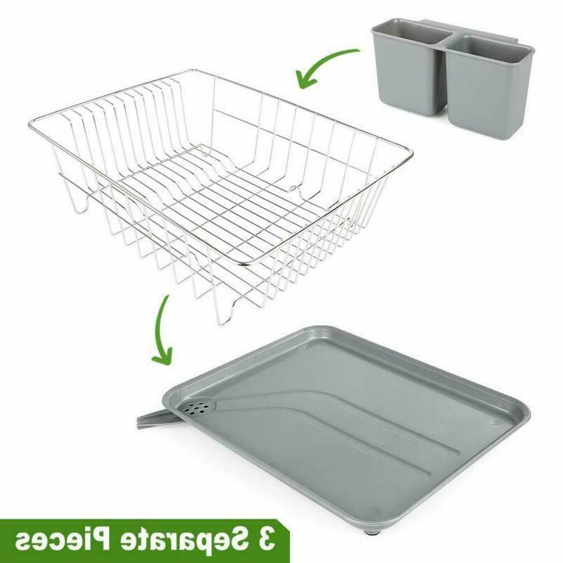 Dish Drying With Drain Board, Stainless Steel Dish Ra