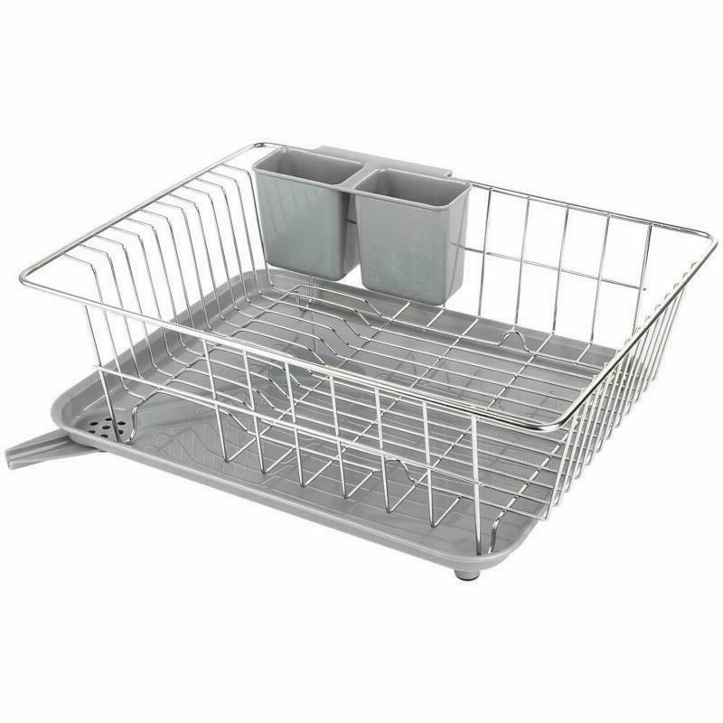 dish drying rack with drain board whitgo