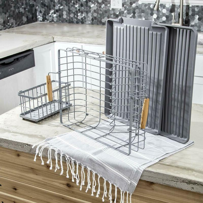 Dish Rack with Wooden Includes