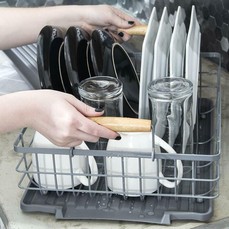 Dish Rack Wooden Handles Includes