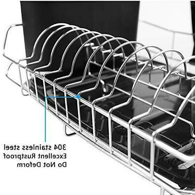 Dish Set, Stainless Steel with Drainboard/Cutlery