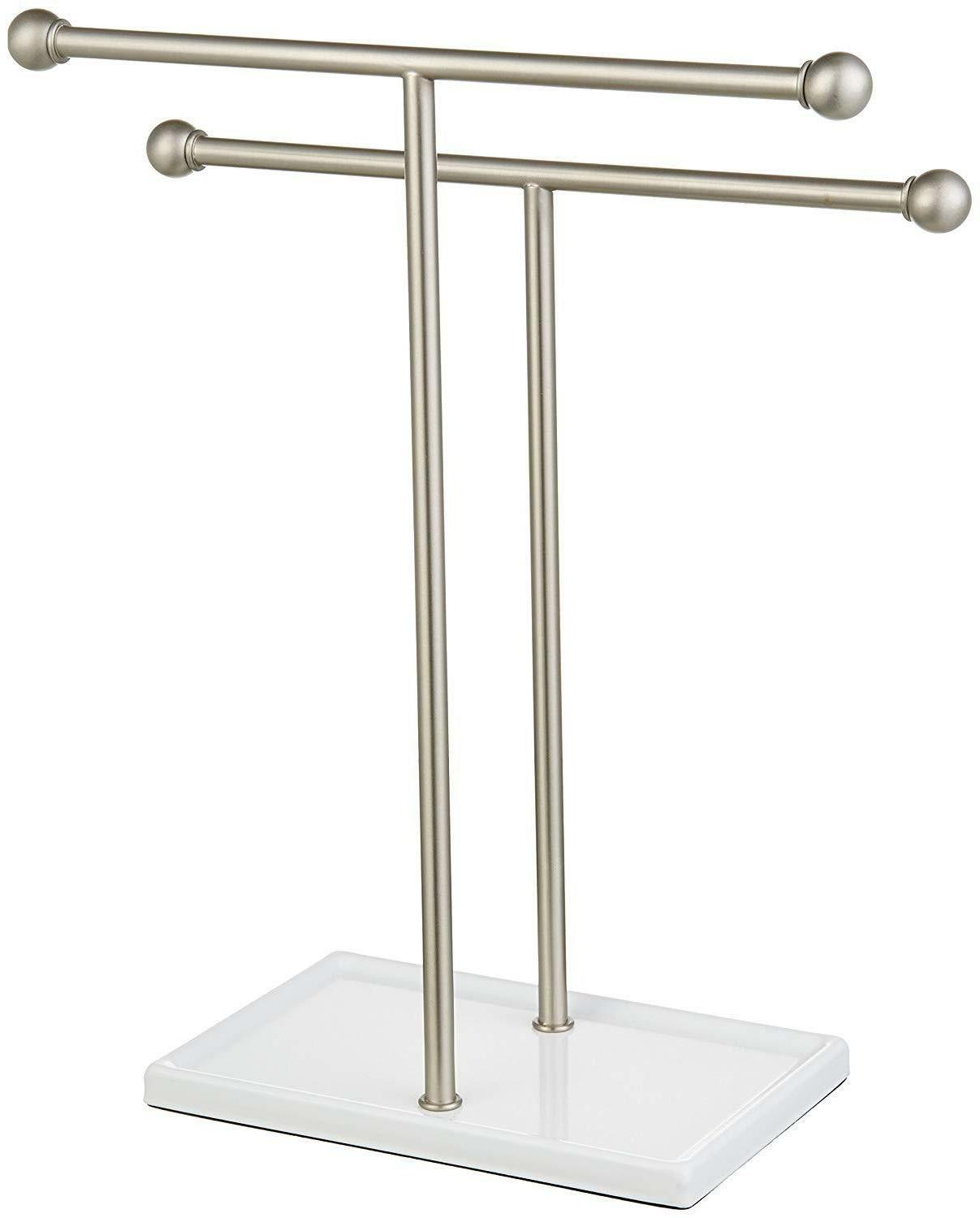 and Accessories Stand Nickel/White