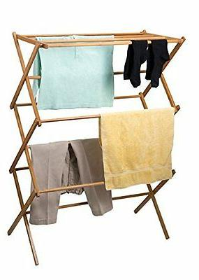 DRY Drying Rack Collapsible Folds Wood Storage