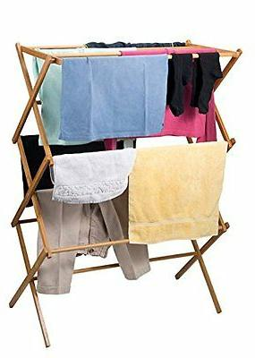DRY Drying Laundry Towel Collapsible Wood