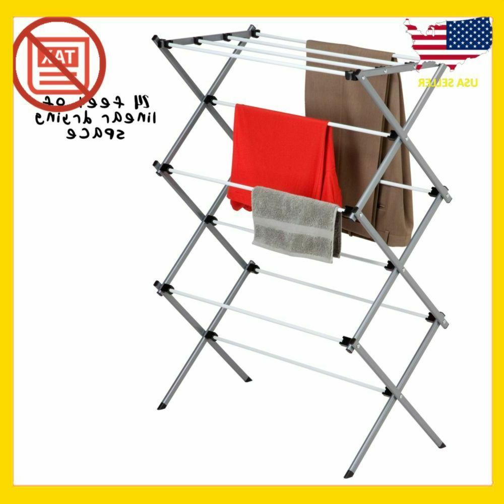 Dryer Storage Portable Clothes Drying Folding Hanger Indoor