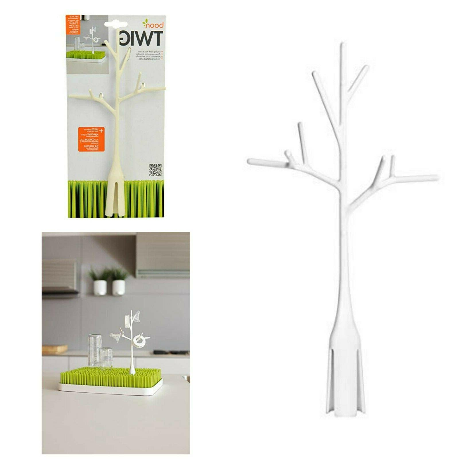 Drying Rack Accessory Twig Grass Lawn White Baby Bottle Sipp