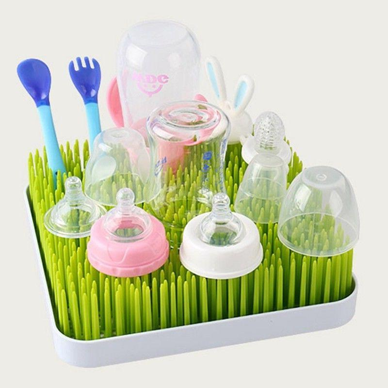 Drying Rack Baby Bottle Twig White Grass Lawn And Accessory